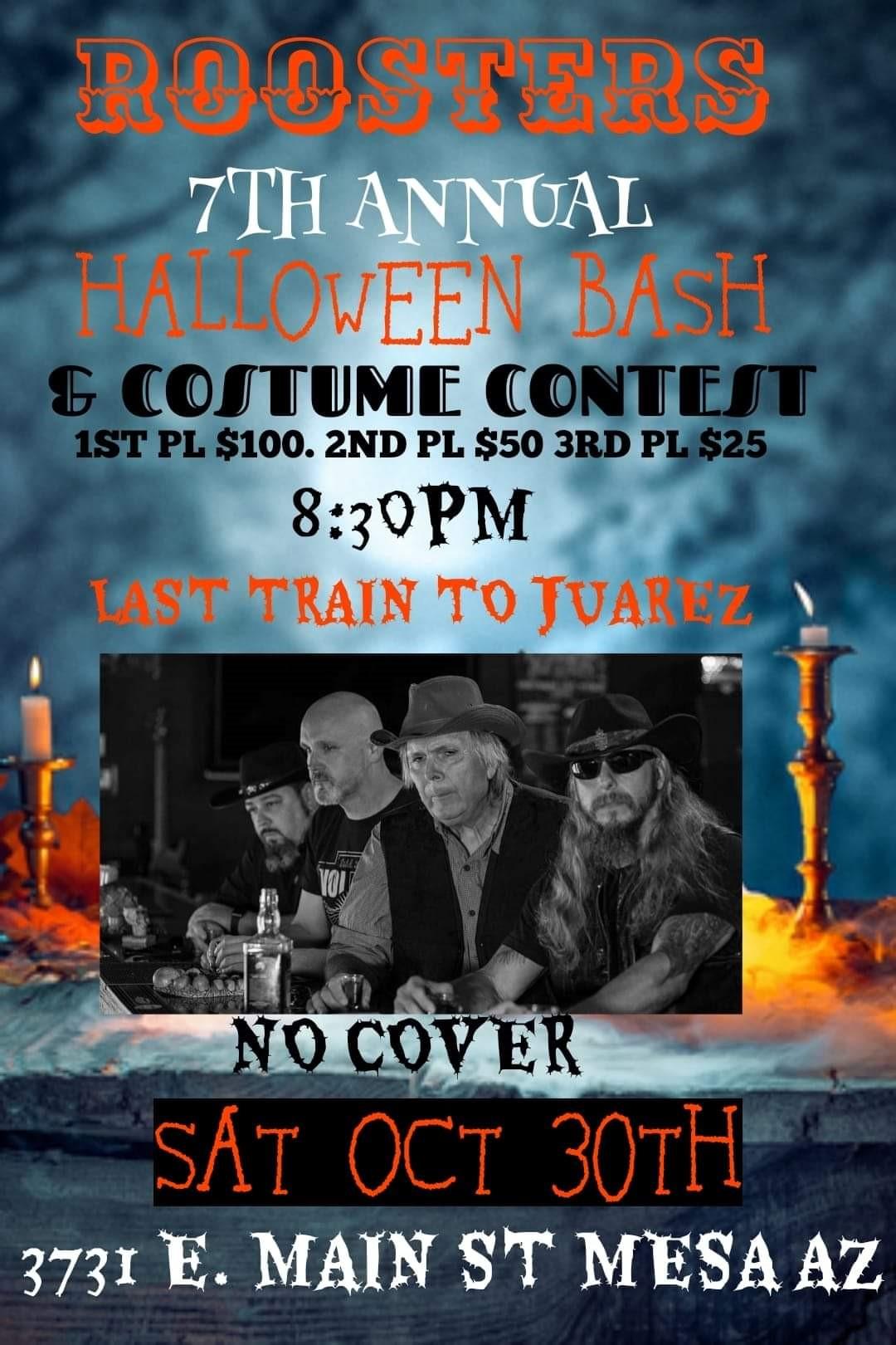 Halloween Bash & Costume Contest / With Last Train to Juarez