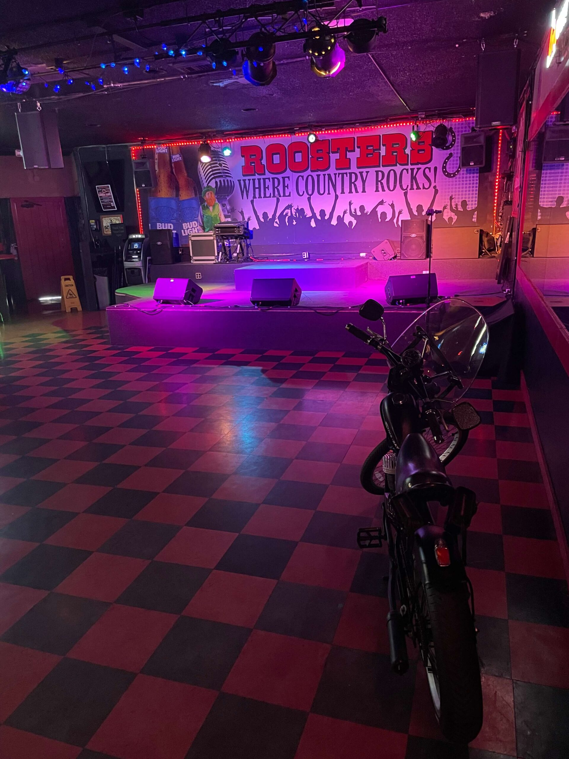 Stage with Motorcycle
