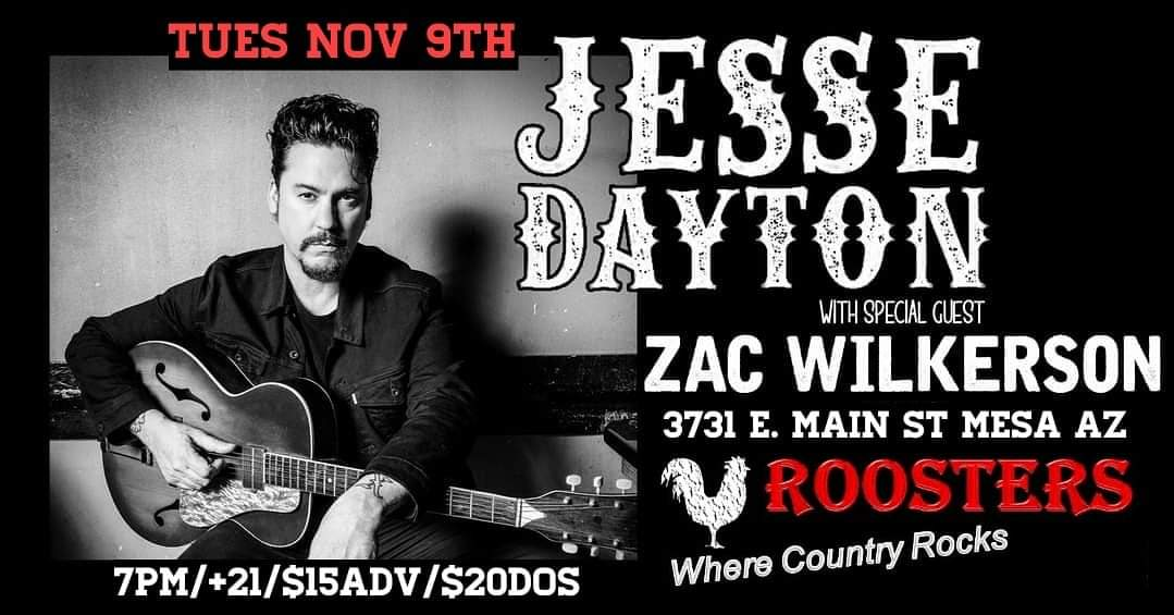 Jesse Dayton @ Roosters Opening Act Zac Wilkerson