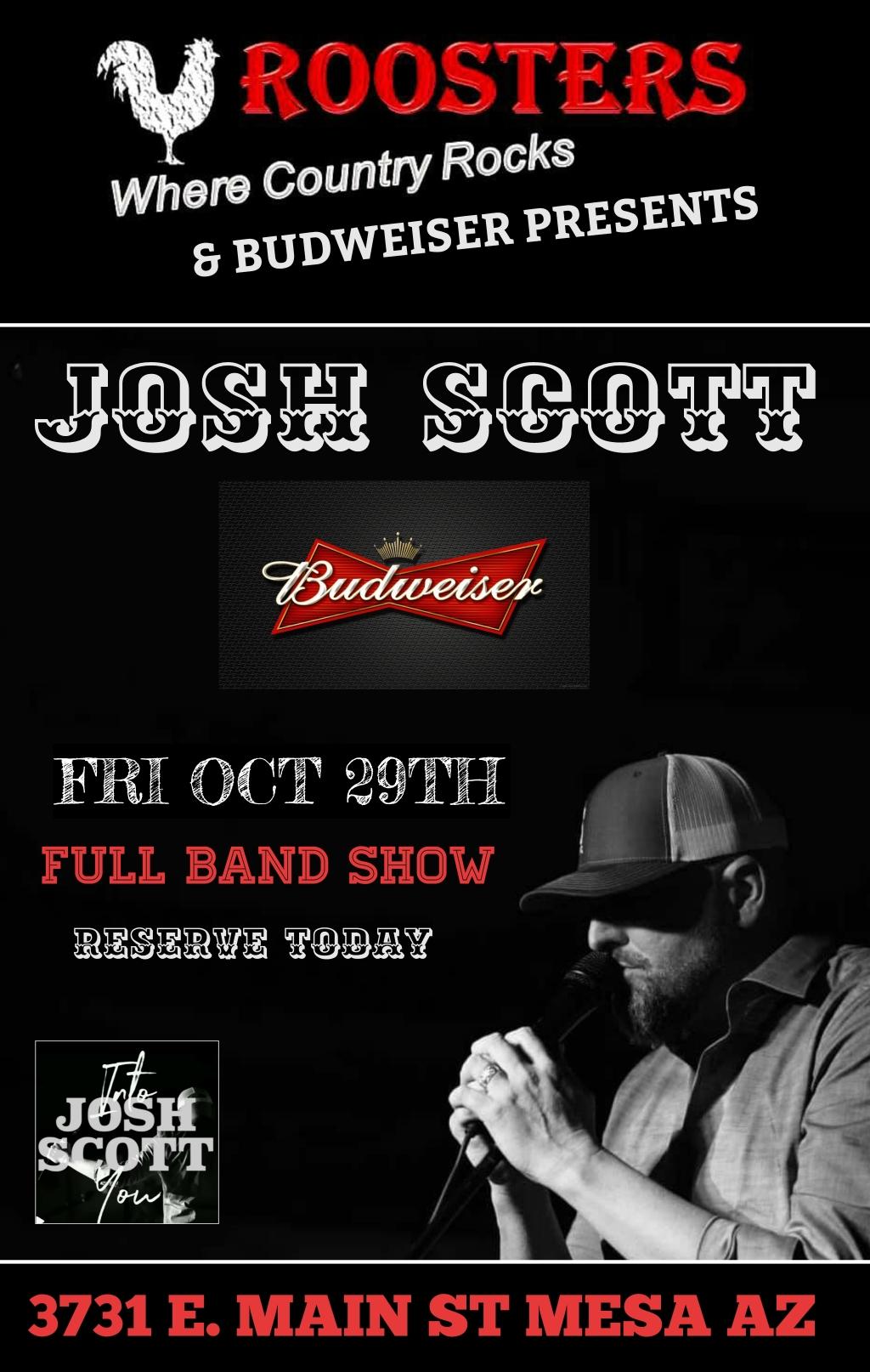 Josh Scott - Full Band - No Cover